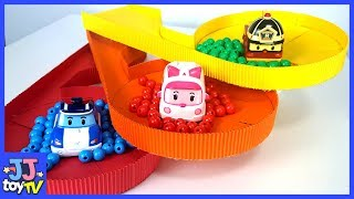 Pororo Delivers The Color Orbeez. Robocar Poli Road Toy & Color Play. [Jjtoytv]
