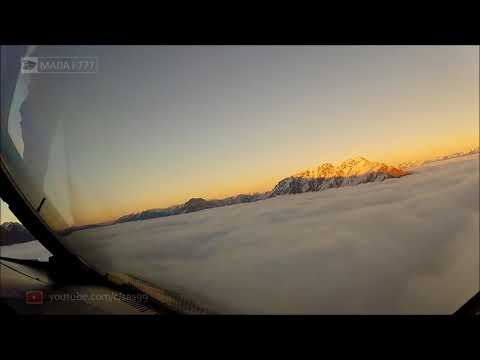 Landing at Queenstown New Zealand Airport