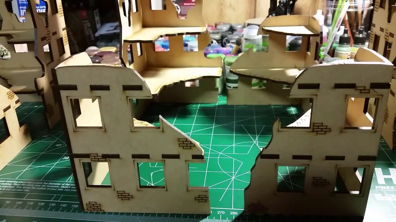Update: warhammer 40k Mini Duels City Ruins Terrain assembled