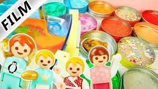 Playmobil Film deutsch KITA AUSFLUG IN SLIME- & Intelligente Knete Museum Kinderserie Familie Vogel