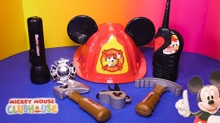 MICKEY MOUSE CLUBHOUSE Disney Junior Mickey mouse Fire & Rescue Mickey Toy Video