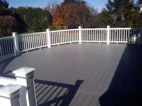 Azek Deck With Timbertech Curved Rails Youtube