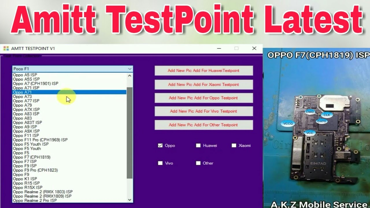 Amitt TestPoint Tool Latest | Xiaomi,Oppo,Vivo,Huawei and others