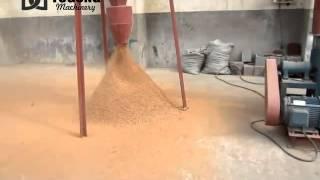 hammer crusher crushing wood chips