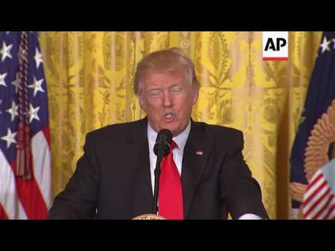 Trump Defends Administration, Bashes Media