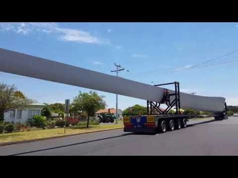 White Rock wind farm turbine blade