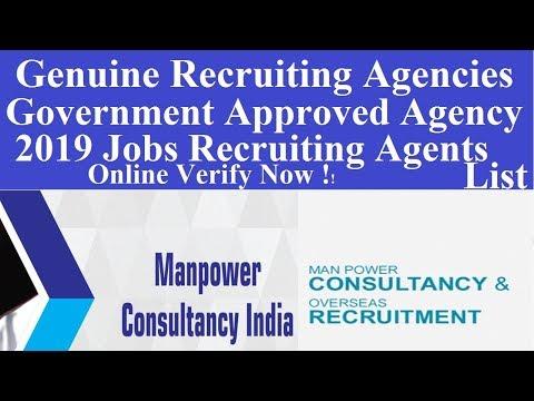 Online Verify Jobs Recruitment Agency L Manpower Consultancy Verification L List Recruiting Agents