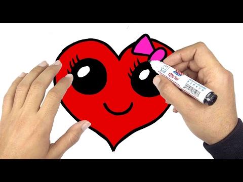 تعليم الرسم كيف ترسم قلب جميل بمناسبة عيد الحب الفلانتين Valentine Day Youtube