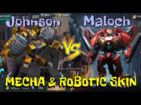 MLBB VS AOV - MECHA & ROBOTIC SKIN BATTLE 2020 - Who's The Best  Compare???