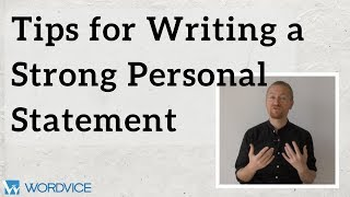 Tips for Writing a Strong Personal Statement for Graduate School