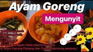 #VlogMasak | Ayam Goreng Kunyit