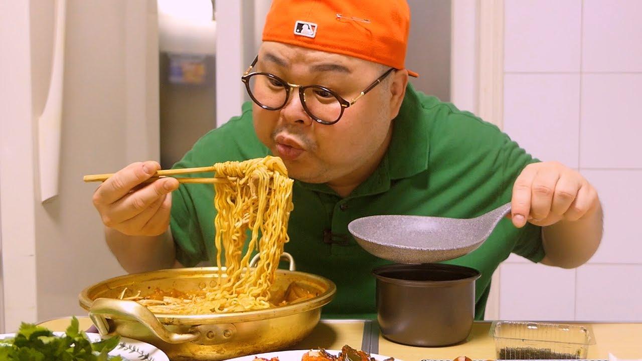 「혼밥 가이드」제주흑돼지│약오르쥐~ 먹고싶쥐~😜돼지김치찌개먹방 Mukbang Eatingshow [Black Pork Belly,Kimchi Stew]