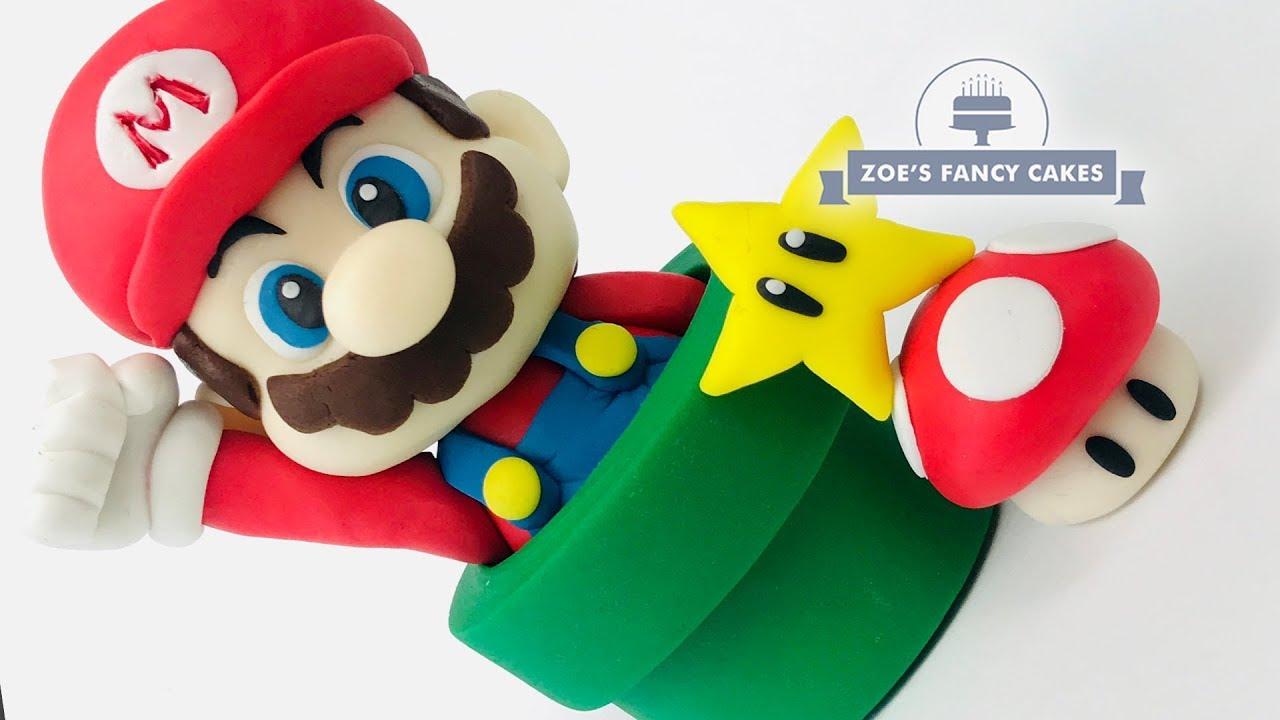 Super Mario Bros Cake Topper Tutorial Youtube