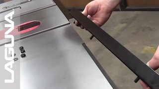 Laguna Tools Fusion Tablesaw Setup - Install The Fence Holder Brackets And Rails - Part 6 Of 18