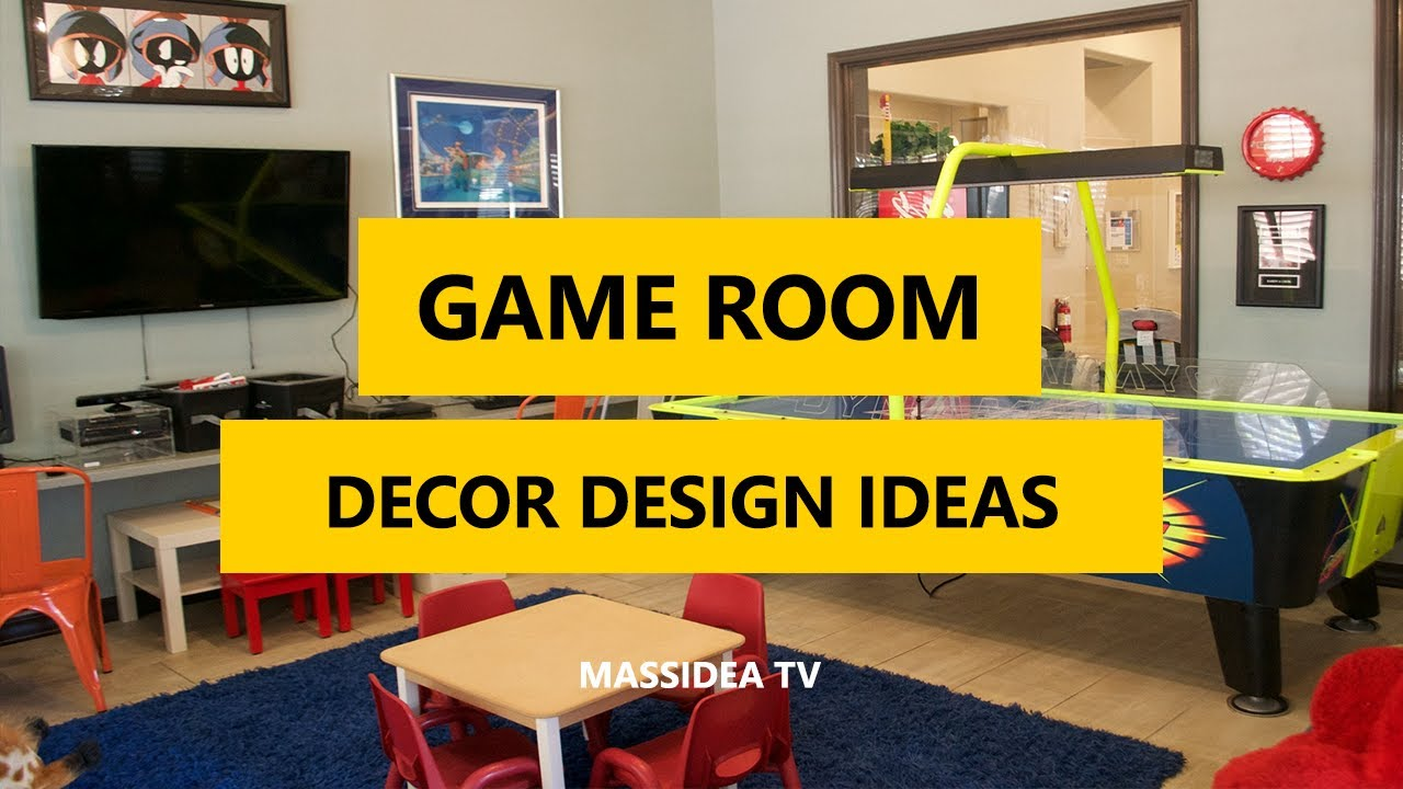 45+ Cool Game Room Decor and Design Ideas pictures 2017 - YouTube