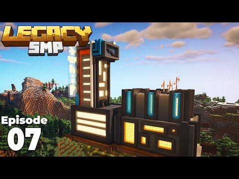 LegacySMP : Episode 7 : Building My Cyberpunk Base In Minecraft 1.15 Survival