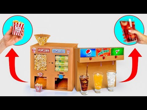 2 COOL CARDBOARD CRAFTS FOR A MOVIE NIGHT