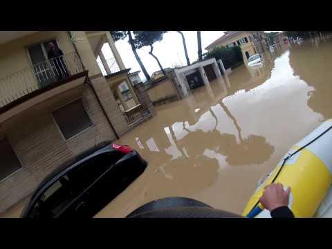 alluvione Marina di Carrara il 5/11/2014
