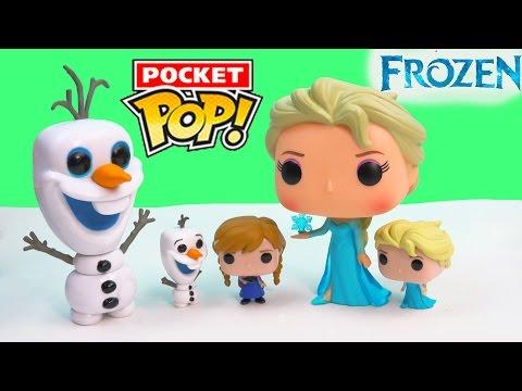 Queen Elsa Disney Frozen Mini Pocket Pop Vinyl Princess Anna Olaf Snowman Doll Figure Set Collection
