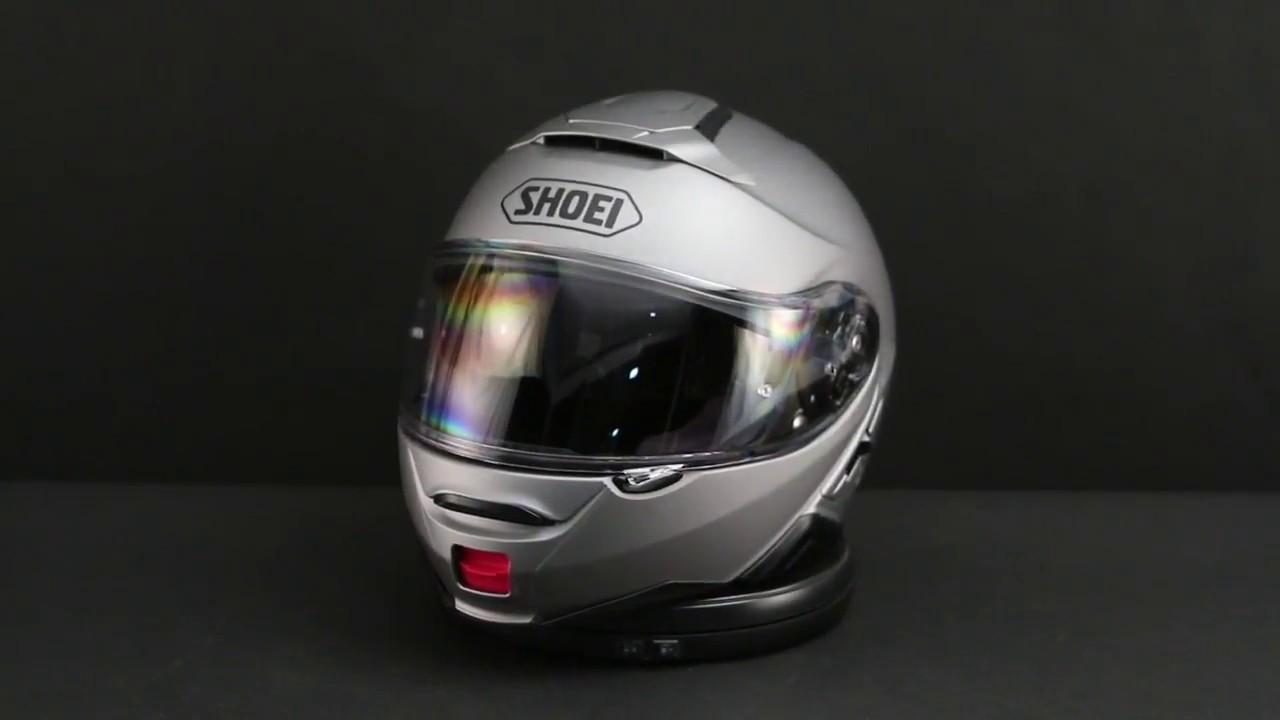 Shoei Neotec Ii Matte Deep Grey Modular Helmet 360 View Youtube