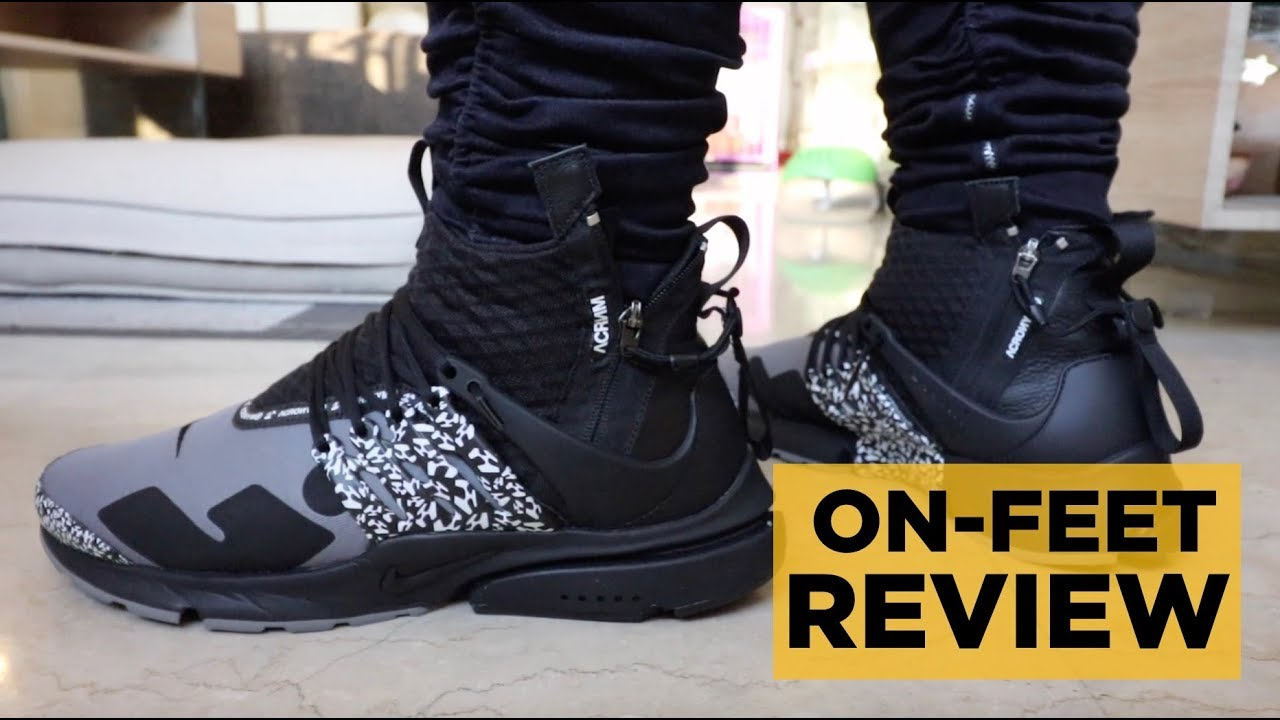 promo code ebc6e f6ec4 ... Air Presto X Acronym On Feet Nike Acronym Presto Mid Cool Grey On-Feet  Review ...