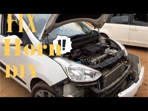 how to install horn in car, watch fixing new horn in Indian Cars