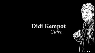 Didi Kempot Cidro Lyric MP3
