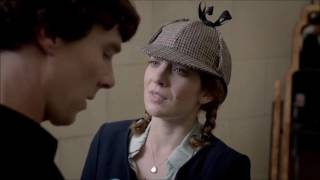 Sherlock meets Kitty Riley - The Reichenbach Fall - Sherlock - BBC