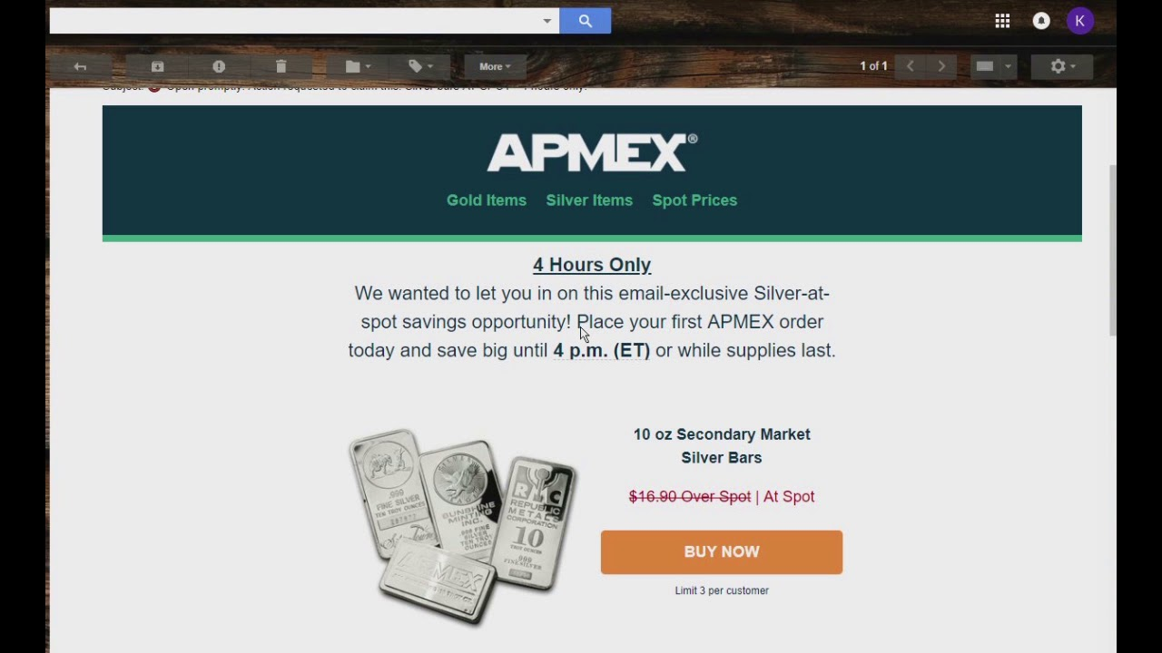 Apmex 4 Hour Silver At Spot Flash