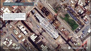 Imagens de satélite revelam possível Construção de novo Porta-Aviões chinês