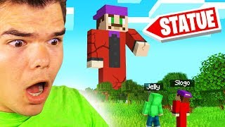 We Found A HUGE SLOGO STATUE In MINECRAFT! (Amazing)