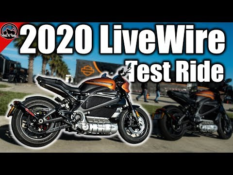 2020 Harley-Davidson LiveWire Electric Motorcycle Test Ride