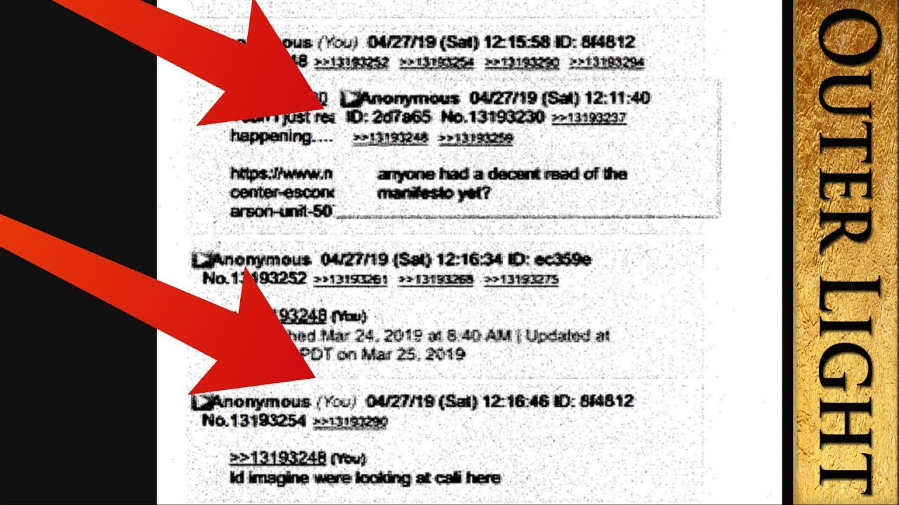 The Outer Light - FBI seems to use its own posts as evidence for search warrent