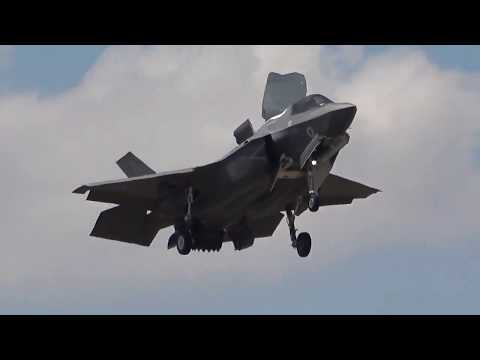F-35B in the Hover at the IAT Fairford 2018.