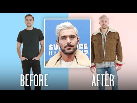 zac-efron's-bleached-hair-recreated-by-professional-stylists- -gq