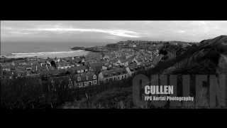 Drone footage cullen scotland