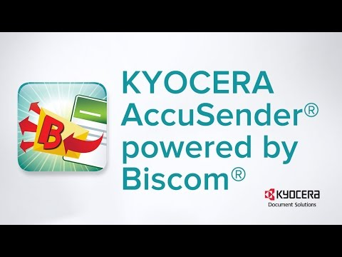 KYOCERA AccuSender® Powered by Biscom® - YouTube