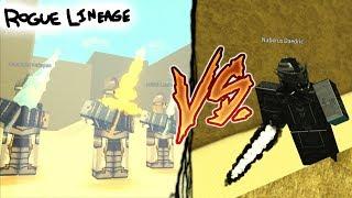 3 SIGIL KNIGHTS vs DARK SIGIL RUNE MASTER!! | Roblox: Rogue Lineage