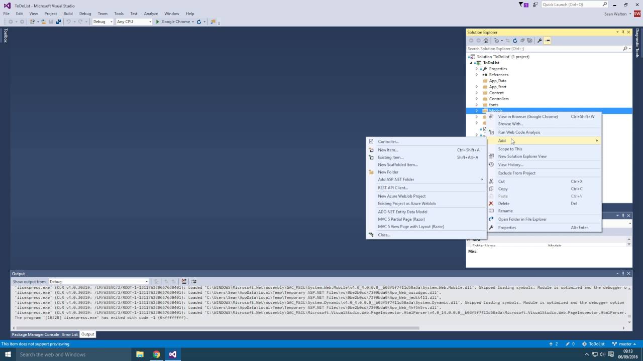Making a ToDo List Web Application with ASP NET MVC - Part 1