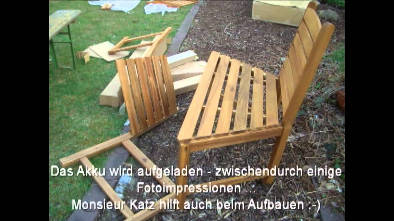 eine baumbank f r den garten youtube. Black Bedroom Furniture Sets. Home Design Ideas