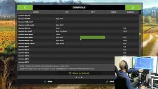 farming simulator 2017 quick wheel and joystick setup how to