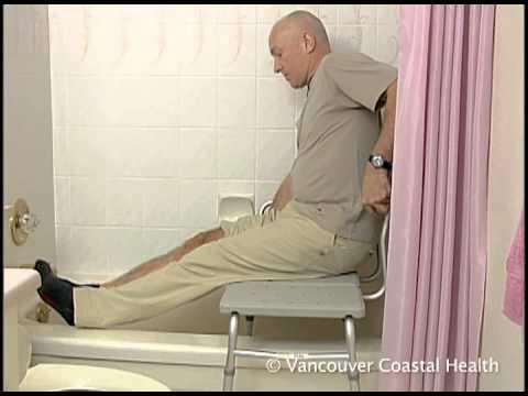 Bathing Using A Tub Transfer Bench Youtube