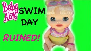 BABY ALIVE Audrey Ruins Swim Day For Everyone!
