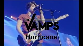 The Vamps playing Hurricane live at the O2 Arena in London on May 2...