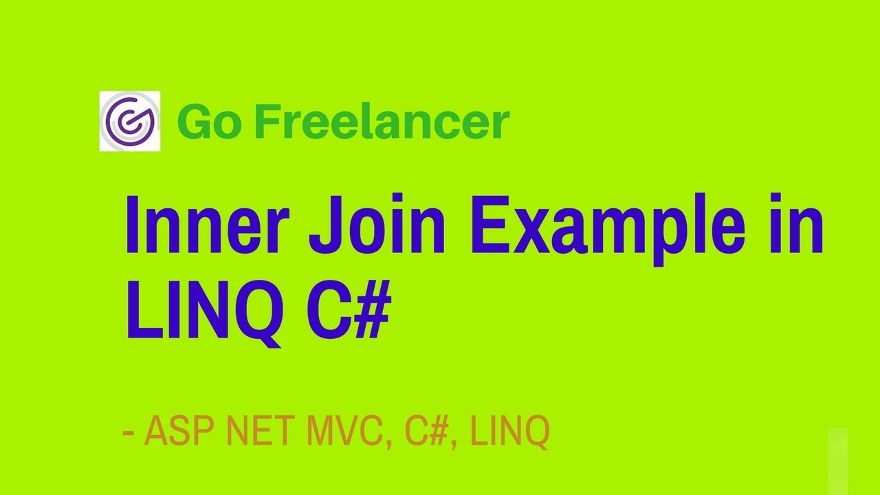 Inner Join Example In Linq C Youtube