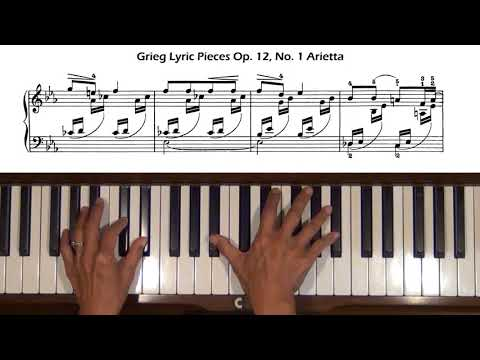 Grieg Lyric Pieces Op.12, No. 1 Arietta Piano Tutorial with Score