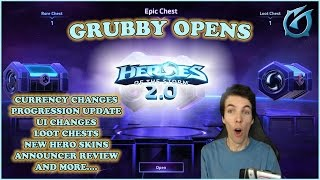 Grubby Opens Heroes of the Storm 2.0 - New UI, Currency, Progression System, Hero Skins and More!