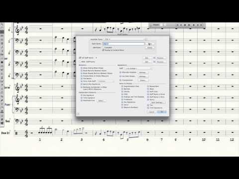 Finale Tutorial - Drum Set Horn Cues Over Slash Notation (Big Band Chart)