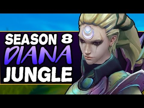 THE BEST AP CARRY JUNGLER - Diana Jungle (Assassin/Carry) - Season 8 Gameplay