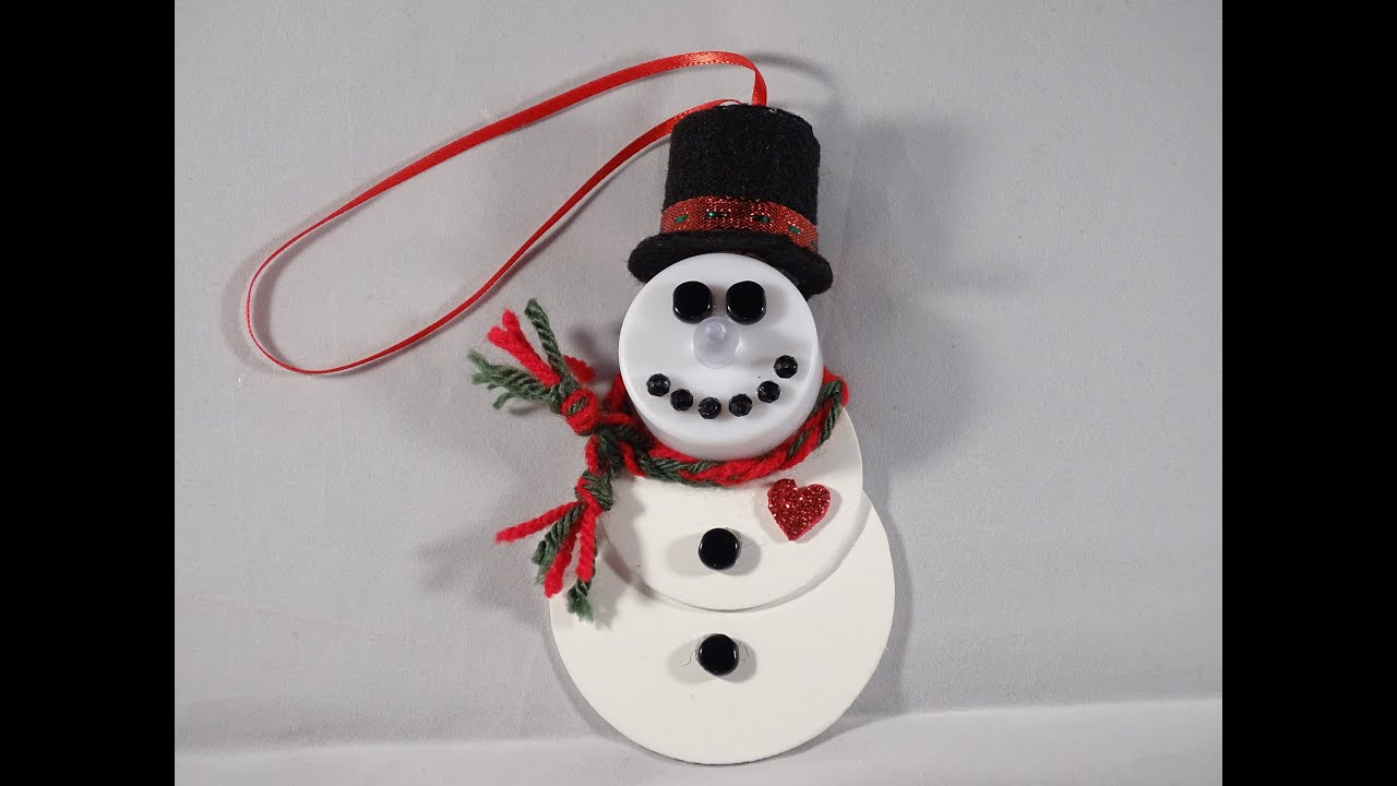 Tealight Snowman Ornament With Yoyomax12 Youtube